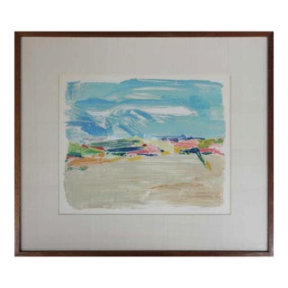 1960s Abstract Landscape Painting For Sale