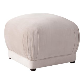 Square Ottoman in Titan Mineral For Sale