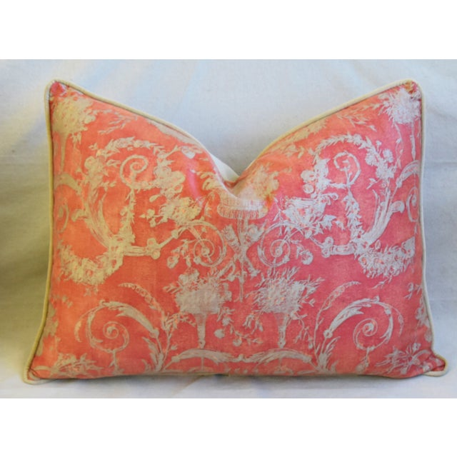 """Early 21st Century Italian Fortuny Festoni Feather/Down Pillows 24"""" X 18"""" - Pair For Sale - Image 5 of 13"""