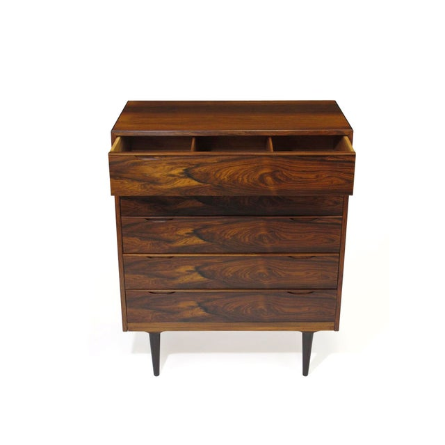 Vintage Mid Century Danish Brazilian Rosewood Chest of Drawers For Sale In San Francisco - Image 6 of 12