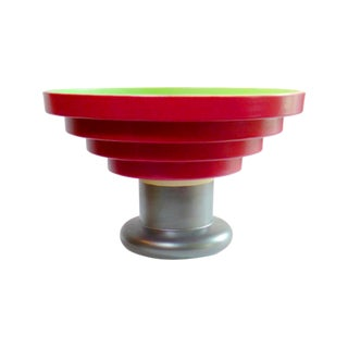 Large Pillared Ceramic Bowl Centerpiece by Ettore Sottsass For Sale