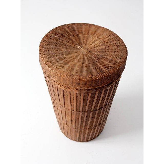 Vintage Woven Hamper Basket - Image 5 of 7