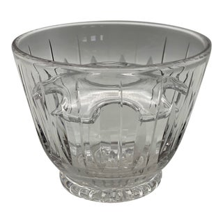 Vintage Stuart Crystal Hampshire Ice Bucket and Insert For Sale