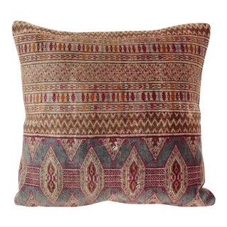 Turkoman Turkish Carpet Wool Pillow For Sale