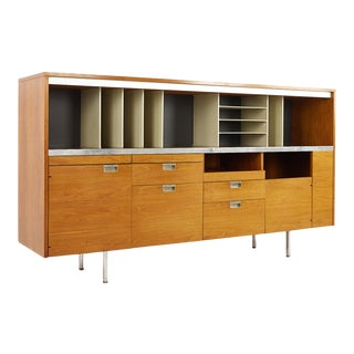 George Nelson for Herman Miller Mid Century Large Walnut Office Credenza For Sale