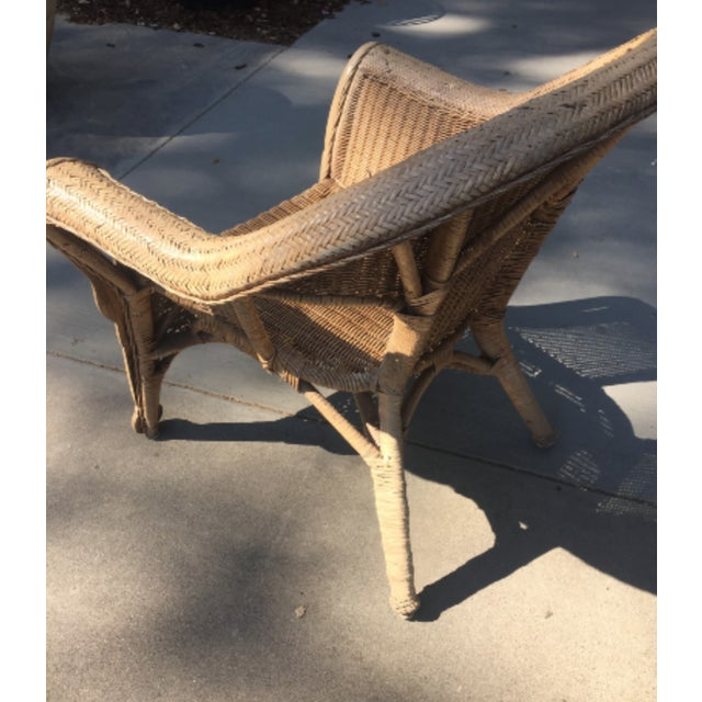 Vintage 1940s Wicker Carved Swan Chairs - A Pair - Image 4 of 9