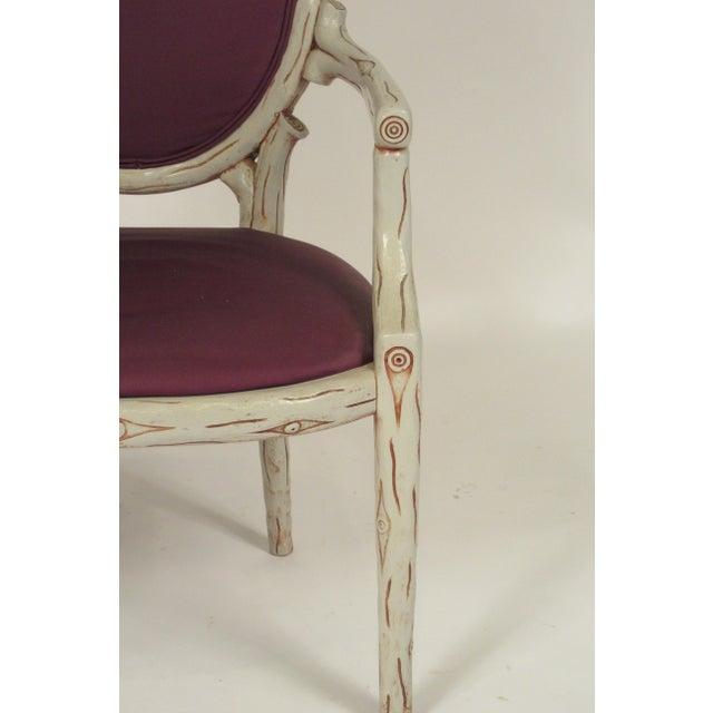 1960s Vintage Faux Bois Dining Chairs- Set of 6 For Sale - Image 11 of 13