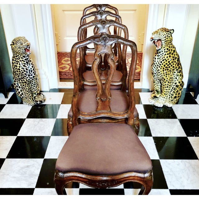 19th Century Neoclassical French Dining Chairs - Set of 4 For Sale - Image 4 of 12