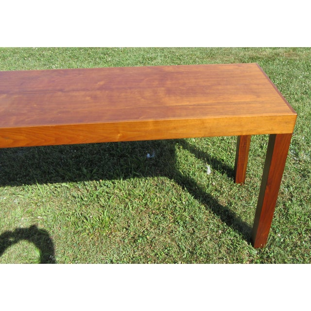 Contemporary Mid-Century Modern Teak Sofa /Hall Table Signed Paine's Furniture For Sale - Image 3 of 10