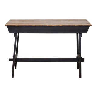 20th Century French Wooden Bistro Table For Sale