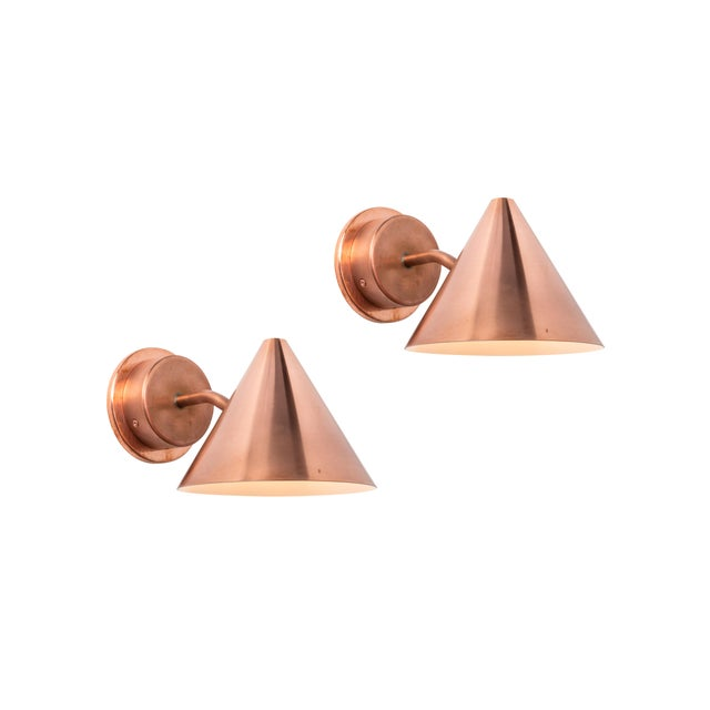 Mid-Century Modern Hans-Agne Jakobsson 'Mini-Tratten' Polished Copper Outdoor Sconce For Sale - Image 3 of 6