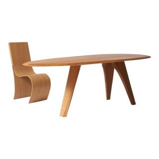 Dining Table in Oak by Kaspar Hamacher For Sale