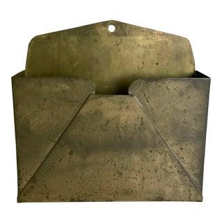 Vintage Brass Wall Mount Envelope For Sale
