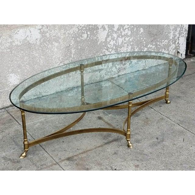 Oval Coffee Table Ireland: Vintage La Barge Oval Coffee Table