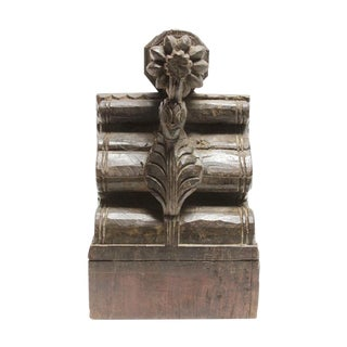 Antique Hand Carved Teak Crane Corbel