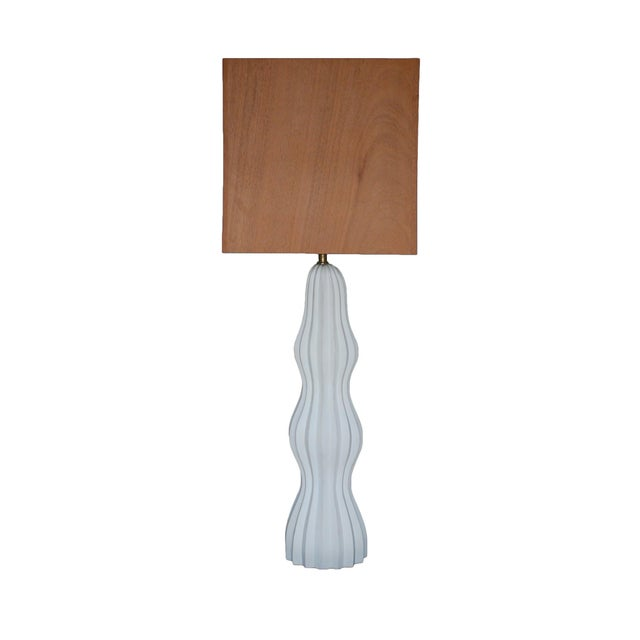 Modern Ripple Table Lamp by MarGian Studio For Sale - Image 3 of 7