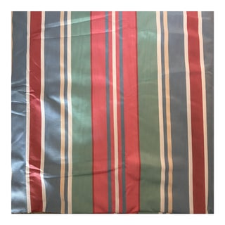 Pink Blue Green Striped Upholstery Fabric - 8 2/3 Yards