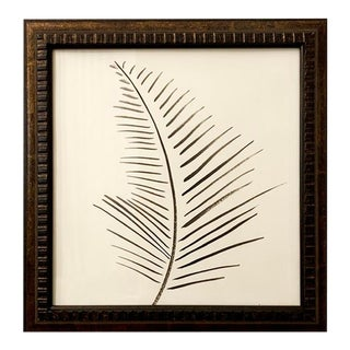 Original Black and White Palm Framed Painting For Sale
