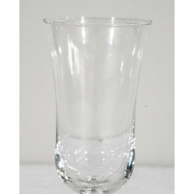 White 1940s Danish Modern Holmegaard Crystal Cordial Glasses - Set of 6 For Sale - Image 8 of 9