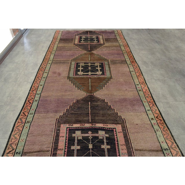 """Turkish Hand-Knotted Runner Rug - 5'7"""" x 13'9"""" - Image 7 of 11"""