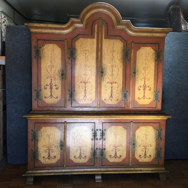 Hand-Painted German Armoire - Image 3 of 8