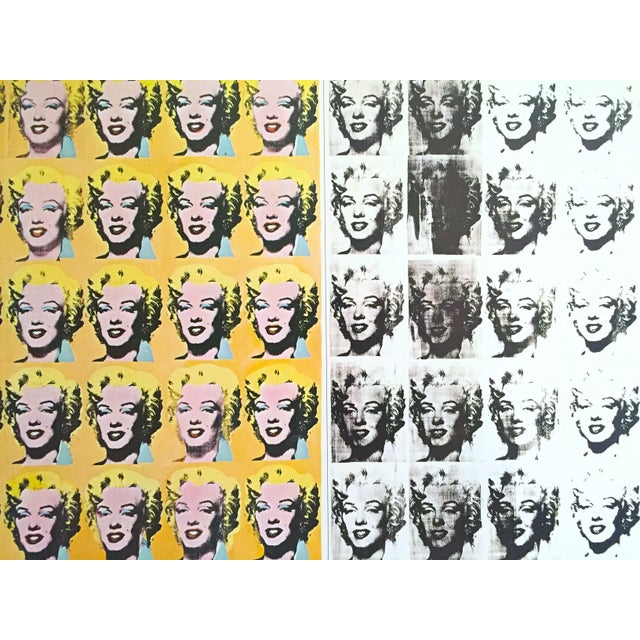 "1990s Andy Warhol Rare Vintage 1995 Lithograph Print Poster ""Marilyn Diptych"" 1962 For Sale - Image 5 of 11"