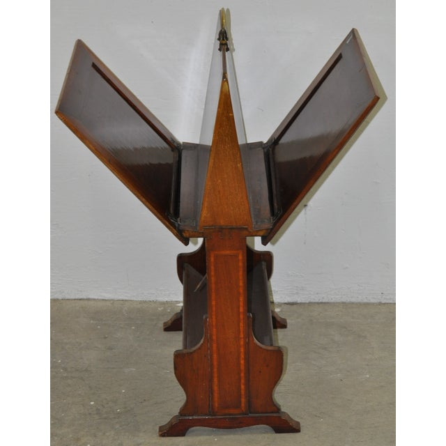 Traditional Inlaid Mahogany Folding Art Stand C.1910 For Sale - Image 3 of 4
