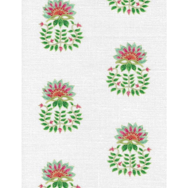 Not Yet Made - Made To Order Ferran Gazania Fabric, 2 Yards, Jade in Linen/Cotton For Sale - Image 5 of 5