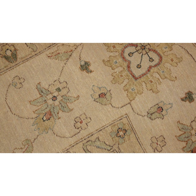 "Brown & Tan Floral Zeigler Rug - 9'2' x 12'5"" - Image 4 of 4"