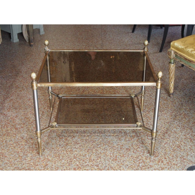 Gold Jansen Style Coffee Table For Sale - Image 8 of 9
