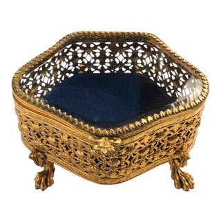 Footed Grand Tour Jewelry Box For Sale