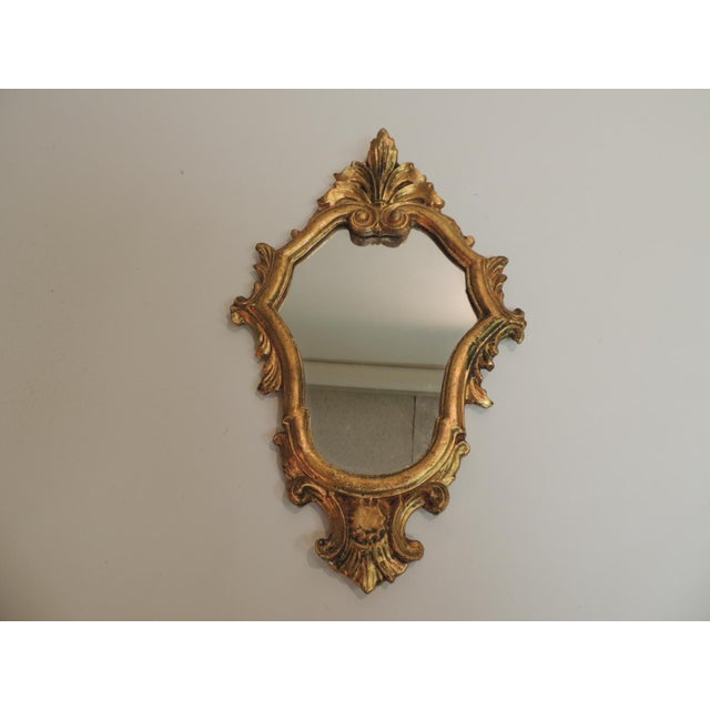 Vintage Florentine Gold Leaf Ornate Mirror - Image 2 of 4