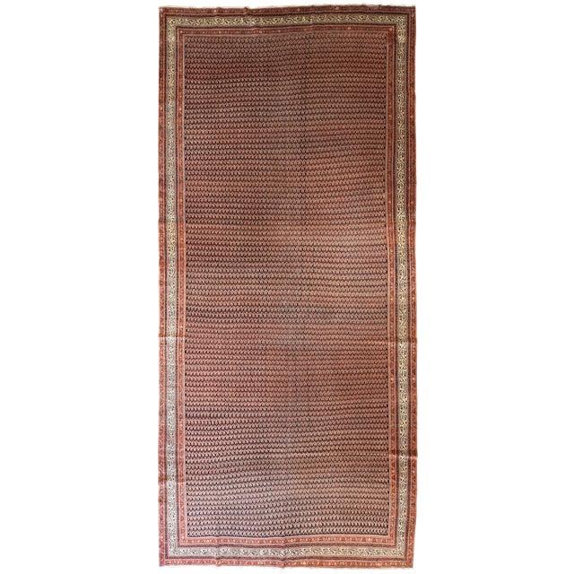 Antique Persian Seraband Gallery Carpet - Image 1 of 4