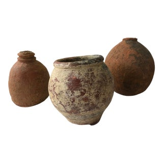 Collection of Ancient African Clay Pots For Sale