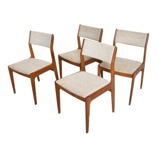 Mid Century Danish Modern Benny Linden Teak Dining Chairs Set of 4 For Sale