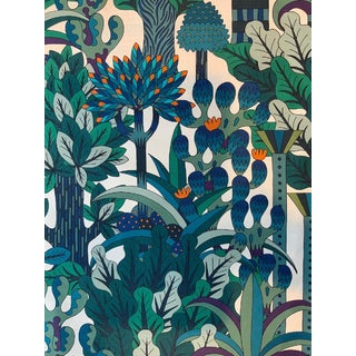 Art Deco Style Hermes Fabric - 54ʺW × 93ʺD For Sale