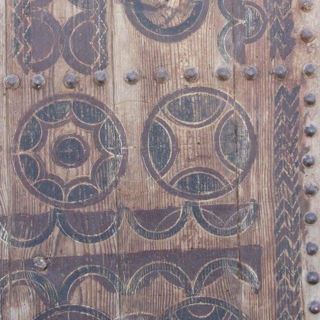 Brown 19th Century Tribal Cedar Door For Sale - Image 8 of 8