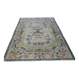 """Oriental Overdyed Turkish Rug - 5' X 7'11"""" For Sale"""