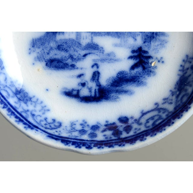 English Traditional Burgess & Leigh Flow Blue Butter Pat - Set of 4 For Sale - Image 3 of 7
