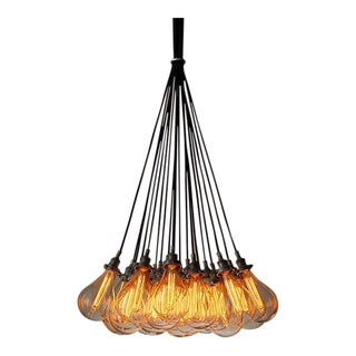 Restoration Hardware Teardrop Glass Filament 19-Cord Chandelier