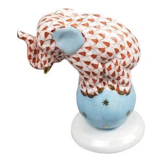 Herend Porcelain Performing Elephant Figurine For Sale