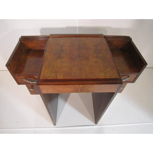 Metal Early 20th Century French Art Deco Writing Vanity Desk For Sale - Image 7 of 13