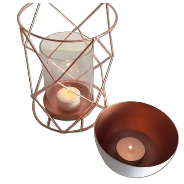 Copper Candle Coffee Table Display - Pair - Image 6 of 6