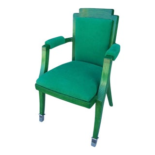 Set of Four Jade Green Deco Chairs by G. Darbois-Gaudin
