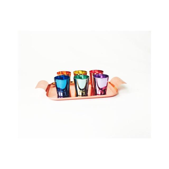 Colorful Vintage German Metal Shot Glasses - Set of 6 - Image 3 of 6