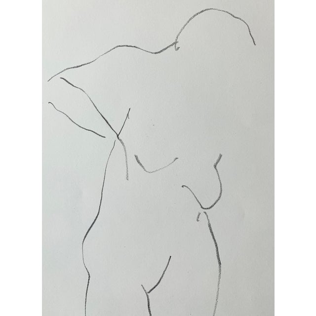 Figurative Figurative Nude Drawing by Jack Freeman For Sale - Image 3 of 4