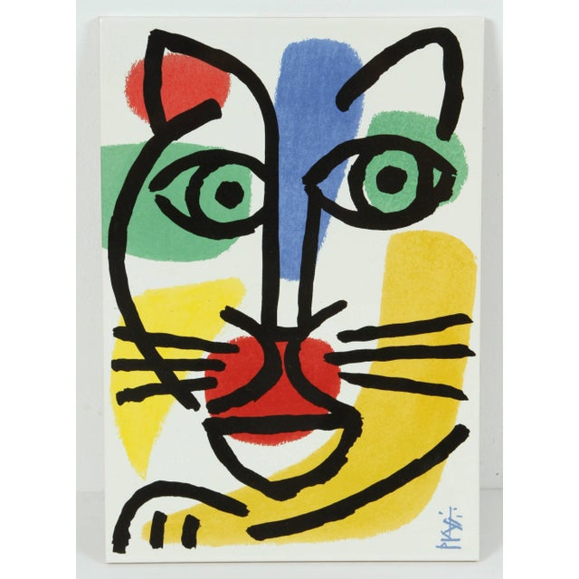 Set of Three Post Modern Celestino Piatti Ceramic Art Tiles For Sale - Image 4 of 10