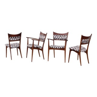Mid-Century Modern Sculptural Dining Chairs - Set of 4 For Sale