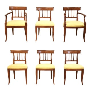 Kindle Cherry Dining Chairs - Set of 6 For Sale