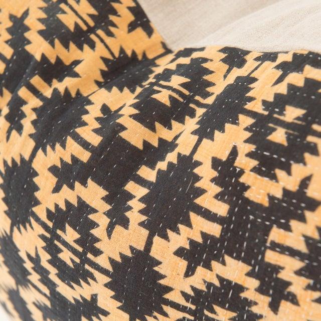 Primitive Vintage Kantha Pillow For Sale - Image 3 of 4